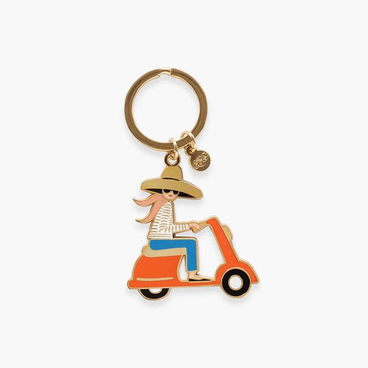 Enamel Keychain - Scooter