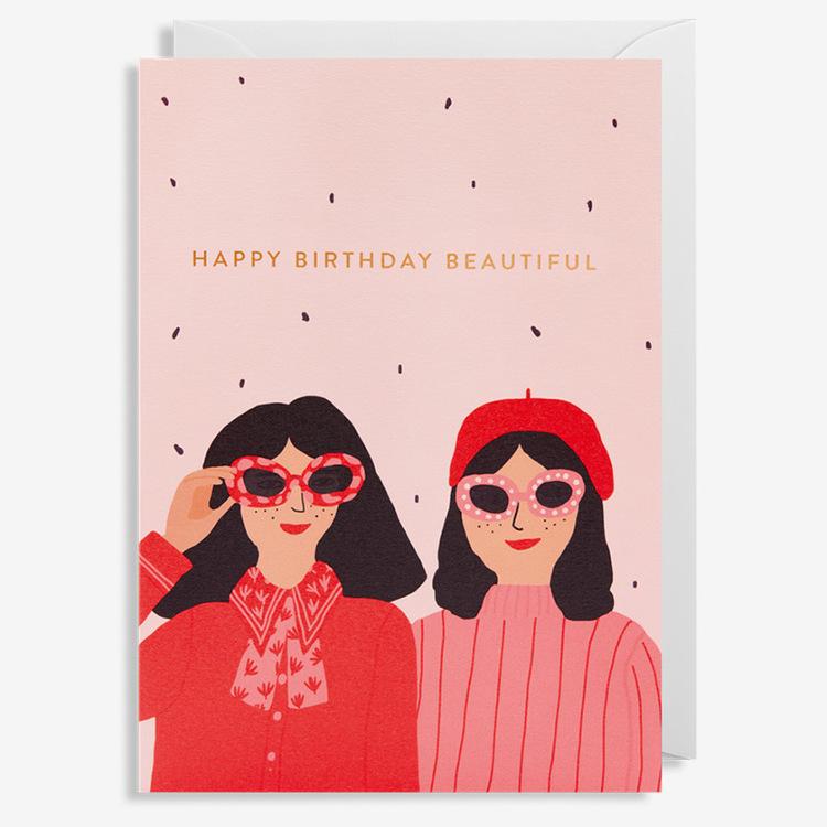 Kort - Happy Birthday Beautiful