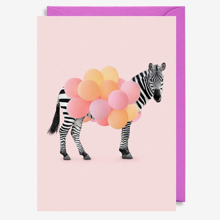 Kort - Party Zebra