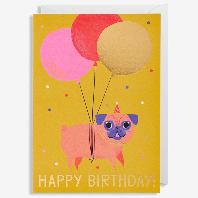 Kort - Happy Birthday - Pug