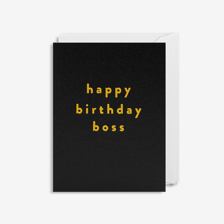 Kort - Happy Birthday Boss