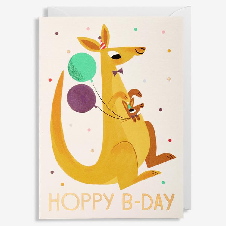 Kort - Hoppy B-day - Känguru