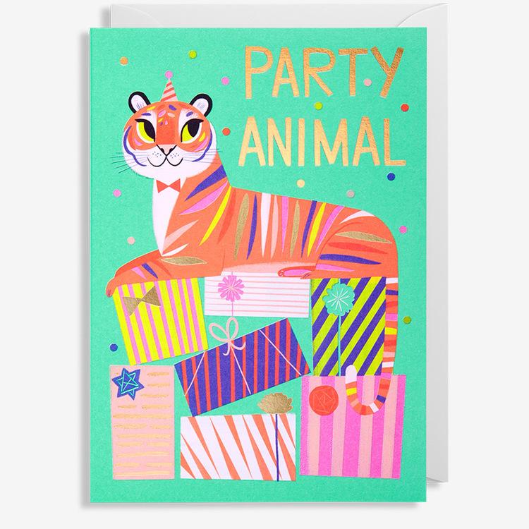 Kort - Party Animal - Tiger