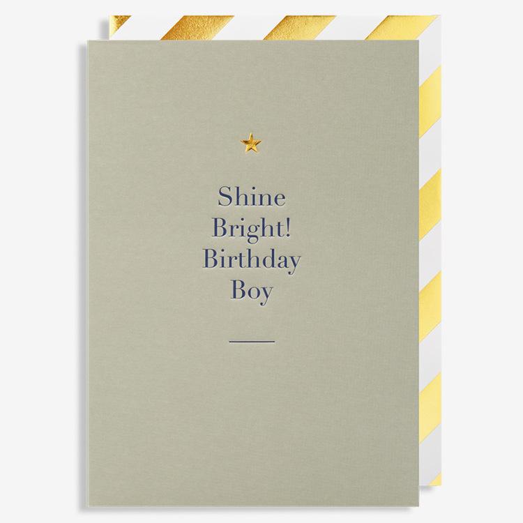 Kort - Shine Bright Birthday Boy