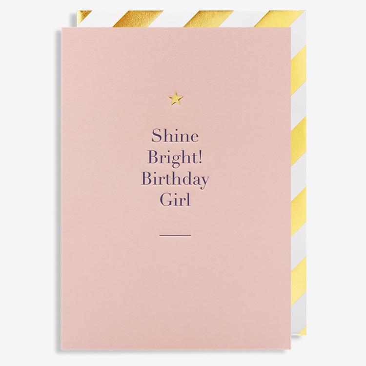 Kort - Shine Bright Birthday Girl