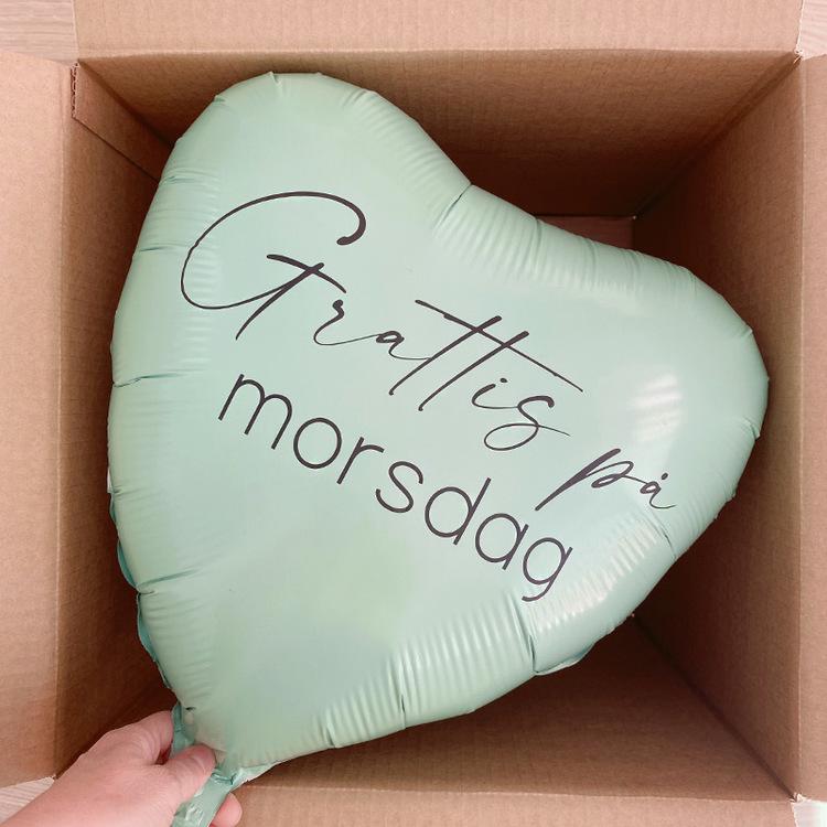 Ballongpost - Personlig Hjärtballong Mors Dag