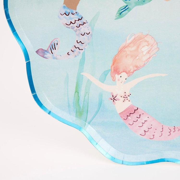 Tallrikar - Scalloped - Mermaid
