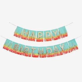 Girlang - Happy Birthday - Rainbow Fringes