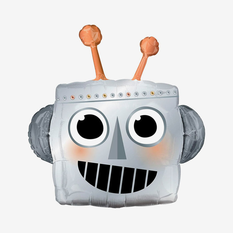 Folieballong - Robothuvud
