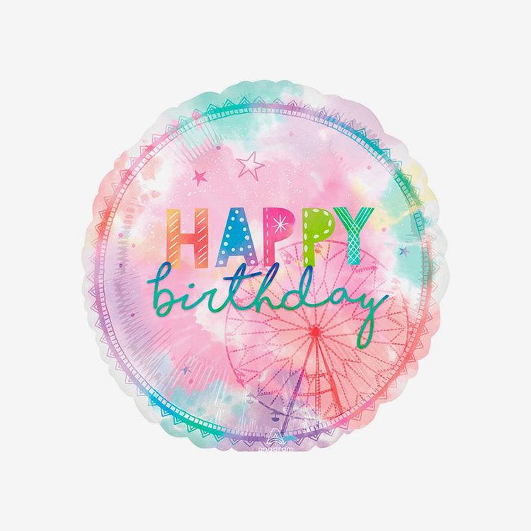 Folieballong - Happy Birthday - Coachella