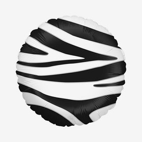 Folieballong - Rund - Zebra
