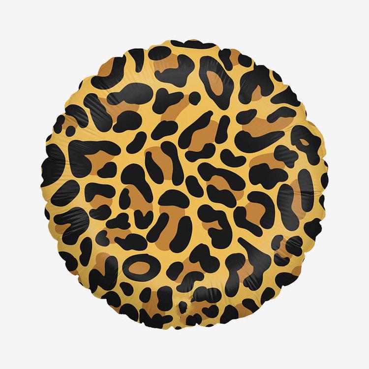 Folieballong - Rund - Leopard