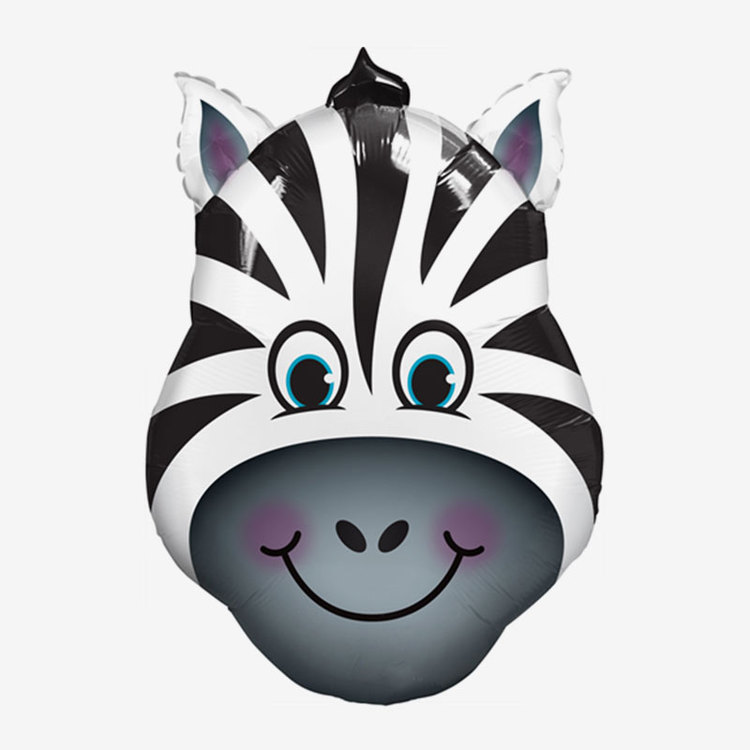 Folieballong - Happy Zebra