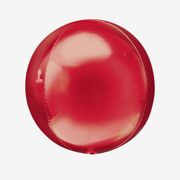 Folieballong - Orbz Röd