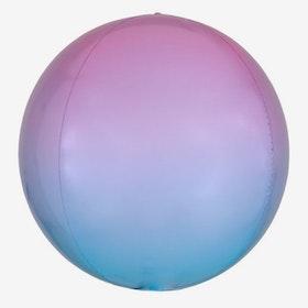 Folieballong - Orbz - Ombre Lavendel/Ljusblå