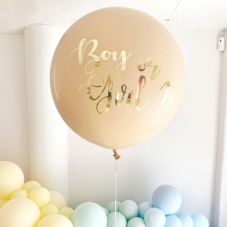 Jätteballong - Gender Reveal - Boy or Girl