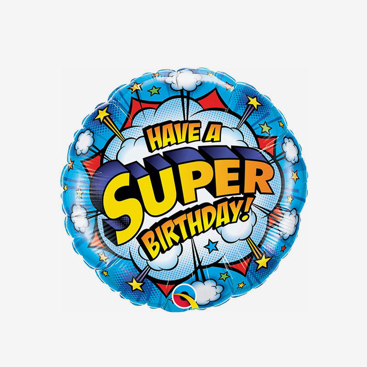 Ballongpost  - Folieballong - Super Birthday!