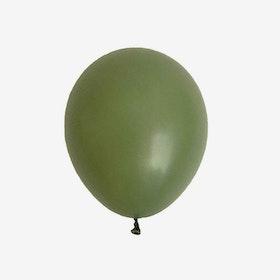 Heliumfylld latexballong 28cm - Eucalyptus