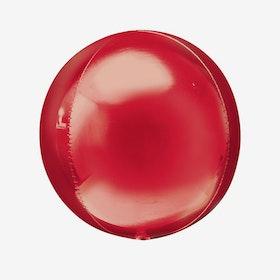 Heliumfylld Folieballong - Orbz Röd