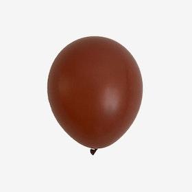 Heliumfylld latexballong 28cm - Terracotta