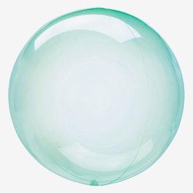 Ballong - Crystal Clear - Grön