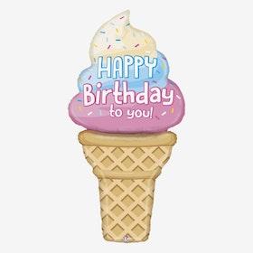 Folieballong - Glass - Happy Birthday