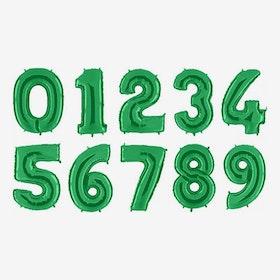 Heliumfyllda Sifferballonger - Grön