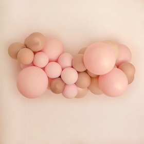 Ballonggirlang - Pink & Beige