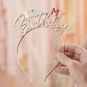 Diadem - It's my Birthday - Guld