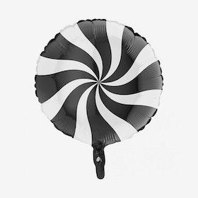 Folieballong - Candy Svart