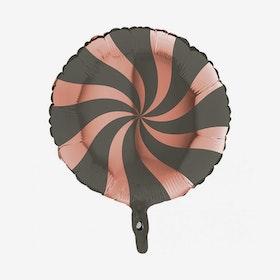 Folieballong - Candy Svart & Rosé