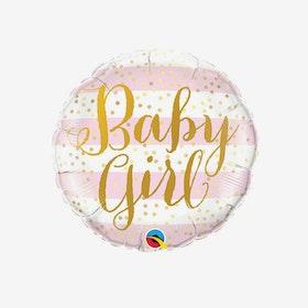 Heliumfylld folieballong - Baby Girl