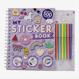Pysselbok med Stickers - Unicorn