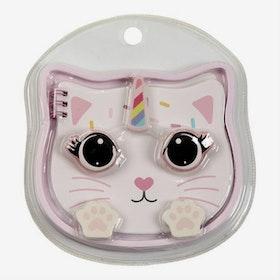 Set med pennor och tillbehör - Cute Cat