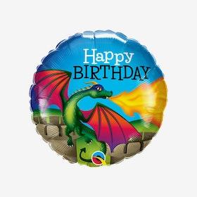 Heliumfylld Folieballong - Happy Birthday -Drake