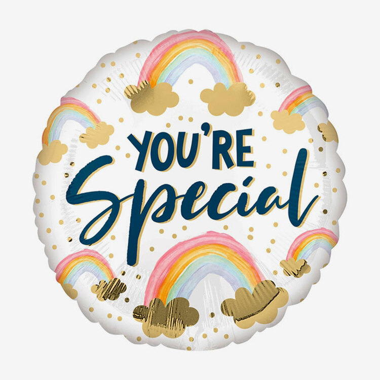 Heliumfylld Folieballong - You're Special - Rainbow