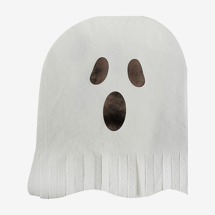 Servetter - Halloween - Ghost Fringes
