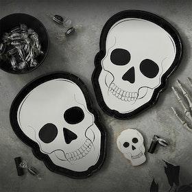 Tallrikar - Halloween - Skull