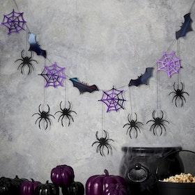 Girlang - Halloween - Spindlar och Fladdermöss