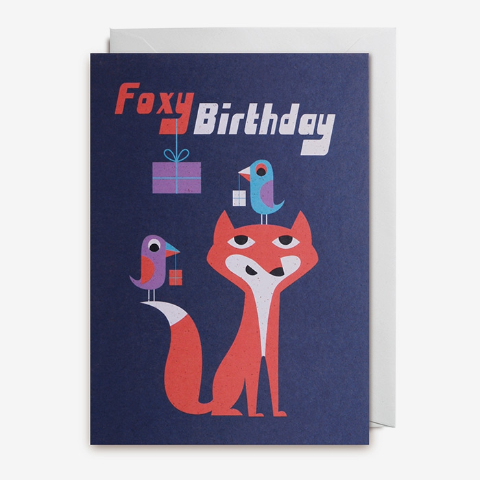 Grattiskort - Foxy birthday