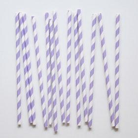 Sugrör Randiga violett