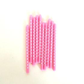 Tårtljus Polkadots rosa