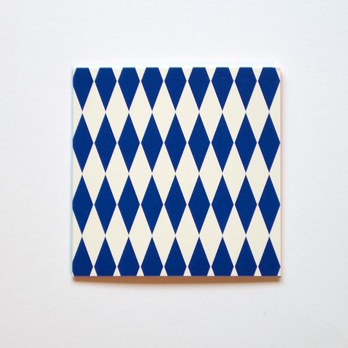Mönsterkort Blå romb