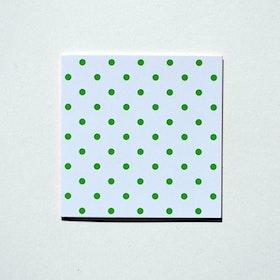Mönsterkort Grön/Vit prick