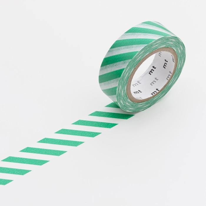 Washitejp -  Tvärrandig grön