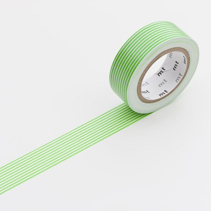 Washitejp -  Randig grön