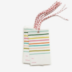 Etiketter Happy stripe