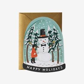 Julkort Snow Globe