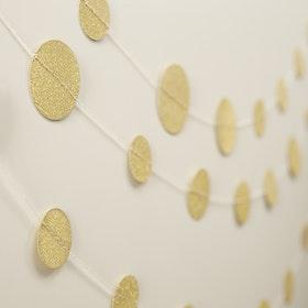 Girlang Confetti Guld
