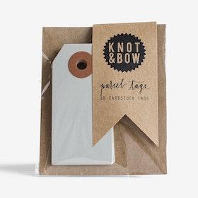 Etiketter Gråa - Knot & Bow